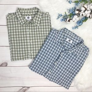 Arizona Plaid Short Sleeve Casual Shirts Large